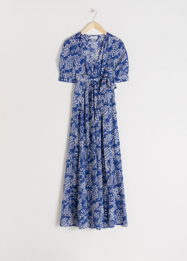 Cotton Blend Coffee Bean Maxi Dress