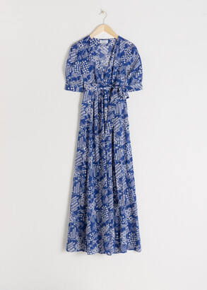 And other stories Cotton Blend Coffee Bean Maxi Dress