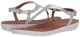 FitFlop Lainey Toe-Thong Back-Strap Sandal (Silver) Women's Shoes