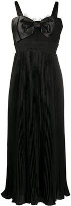 Self-Portrait Pleated Midi Dress