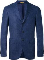 Canali - three button blazer - men - Silk/Linen/Flax/Cupro/Wool - 52