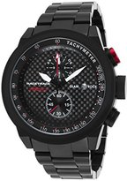 Glam Rock Men's Racetrack Chrono Black Ion Plated Stainless Steel and Dial