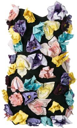 ATTICO Strapless Embellished Mini Dress