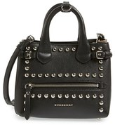 Burberry 'Baby Banner' Studded Leather Satchel - Black