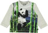 Molo Kid's Enovan Panda Print Long-Sleeve Tee, Size 6-24 Months