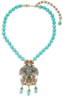Heidi Daus Soaring Eagle Multicolor Crystal Pendant Necklace