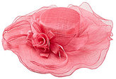 Kate Landry Asymmetrical Ruffled Sinamay Hat
