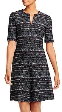 St. John Wool-Blend Tweed A-Line Dress