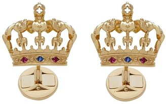 Dolce & Gabbana 18kt Yellow Gold Crown Cufflinks