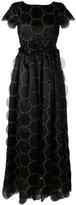 Rochas fitted waist pleated maxi dress - women - Silk - 42