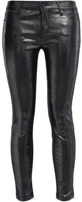 RtA Coated Lizard-effect Leather Skinny Pants