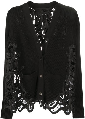 Sacai Paisley-Embroidered Cardigan