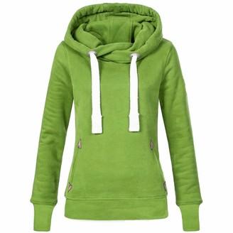 Kalorywee Autumn Winter 2018 Sale Women Plus Size Long Sleeve Solid Sweatshirt Hooded Pullover Tops Shirt FW Green
