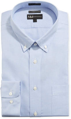 Neiman Marcus Men's Non-Iron Classic Fit Houndstooth Twill Dress Shirt