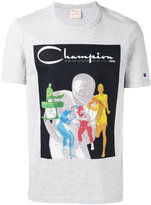 Champion logo print T-shirt - men - Cotton/Polyester - S