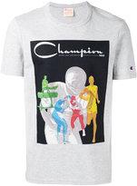 Champion logo print T-shirt - men - Cotton/Polyester - S