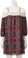 Trixxi Juniors' Crochet Off The Shoulder Dress