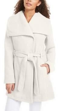 Madden-Girl Juniors' Asymmetrical Belted Wrap Coat