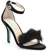 Betsey Johnson Blue by Velvet Faux Fur Detail Nolte Dress Sandals