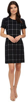 Christin Michaels Textured Plaid Dress