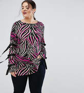 Asos Tunic Top in Abstract Print with D Rings