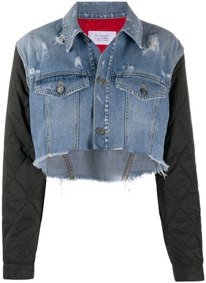 Givenchy Quilted Sleeve Denim Jacket