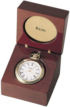 Bulova Mens Brown Stainless Steel Pocket Watch-B2662
