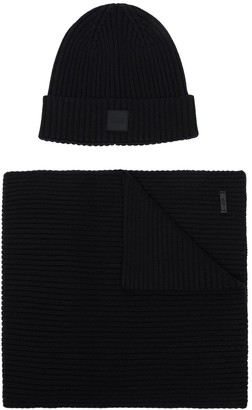 BOSS Gianto beanie and scarf set