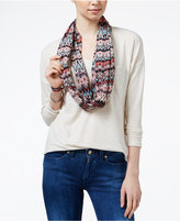 Belle Du Jour Juniors' V-Neck Top with Printed Scarf