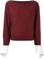 Chloé striped top - women - Cotton/Polyamide/Spandex/Elastane - S