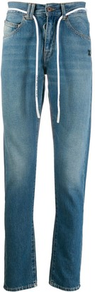 Off-White cord belt slim-fit jeans