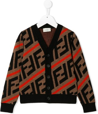 Fendi all-over logo cardigan