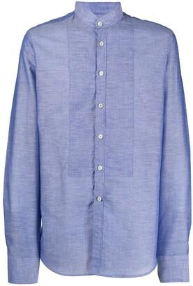 Dell'oglio Mandarin Collar Buttoned Shirt