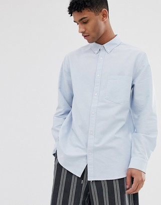 Weekday Henning oxford shirt in blue