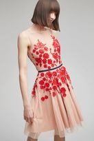 Anthropologie Isabella Floral Embroidered Dress