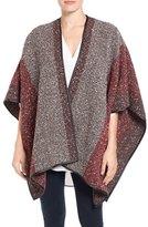 Halogen Colorblock Tweed Poncho