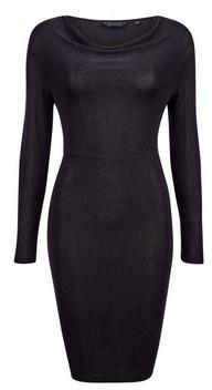 Dorothy Perkins Womens Black Cowl Neck Bodycon Dress, Black