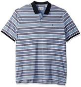 Original Penguin Men's Big and Tall SS Birdseye Wide Stripe Polo-Heritage Fit