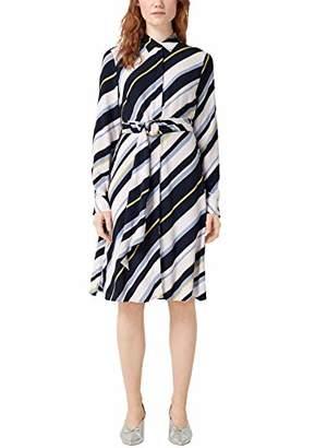 S'Oliver BLACK LABEL Women's 11.904.82.8828 Dress, (Blue AOP A), 18 (Size: )