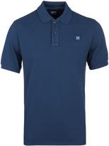 Cp Company Cobalt Blue Pique Polo Shirt