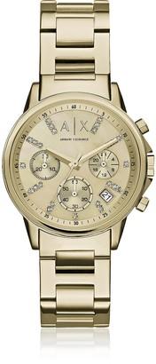 Armani Exchange Lady Banks Gold Tone Chronograph Women's Watch