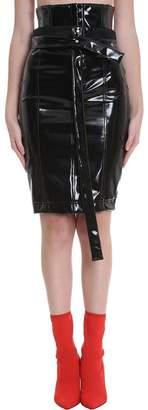 Taverniti So Ben Unravel Project Skirt In Black Pvc