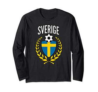 Sweden Soccer Jersey Football Fan Support Sverige Long Sleeve T-Shirt