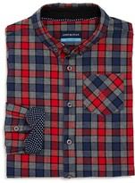Andy & Evan Boys' Checked Twill Shirt - Sizes 2-7