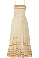 Lisa Marie Fernandez Ric rac trimmed linen maxi dress