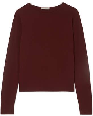 Vince Shrunken Knitted Sweater - Burgundy