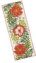 Pier 1 Imports Hibiscus Embroidered Table Runner - 72""