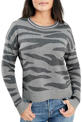 Splendid Zebra Print Long-Sleeve Sweater