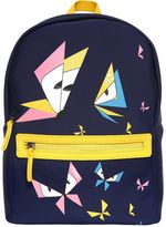 Fendi Butterflies Print Neoprene Backpack