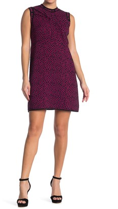 M Missoni Abstract Print Mock Neck Dress